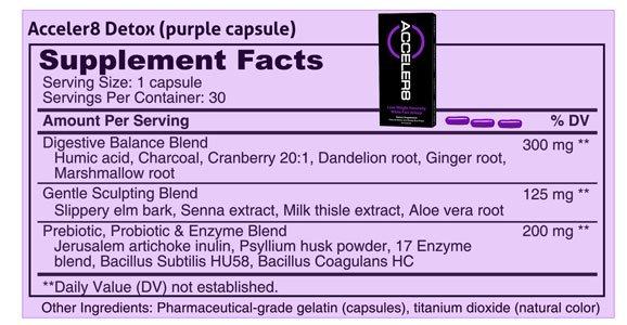 Violet capsules Acceler8 Detox