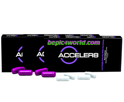 BEpic Packaging purple capsules of the Acceler8