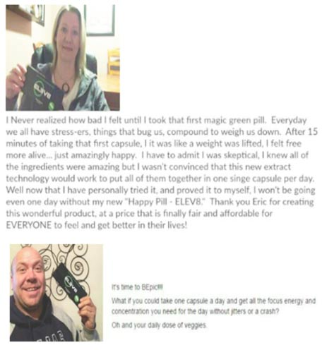 happy people in usa with the packaging of elev8