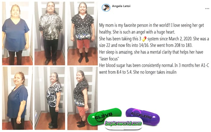Angela writes about the use of 3 pills of B-Epic with diabetes