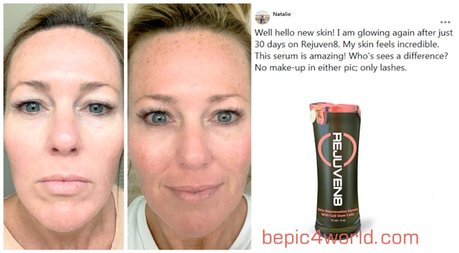 Natalie writes about the use and benefits of REJUVEN8 by B-Epic