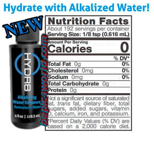HYDR8 alkaline water of BEpic