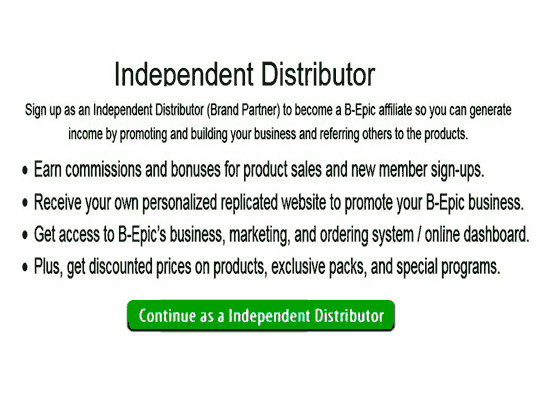 Order and Sign up Independent Distributor BEpic