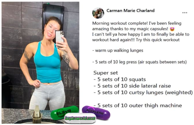 Feedback of Carman Marie Charland about capsules of B-Epic