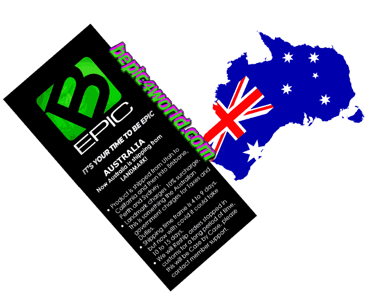 All Product of B-Epic is shipped to AUSTRALIA