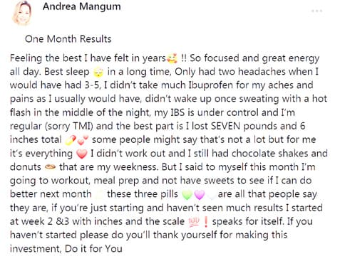 Andrea about the use 3 pills of B-Epic