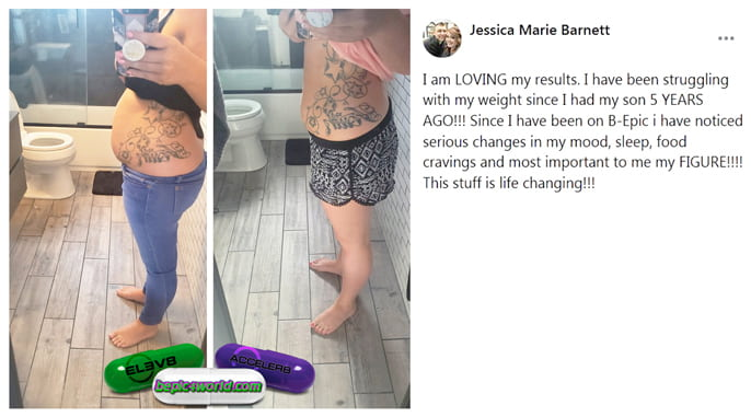 Jessica Marie about the use of 3 pills of B-Epic