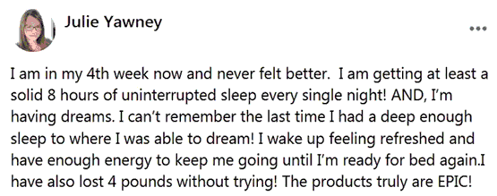 Julie's review about the use of about supplements of B-Epic to get rid of insomnia