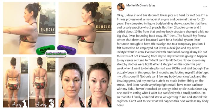 Mollie's review about the use of capsules of B-Epic to get rid of stress