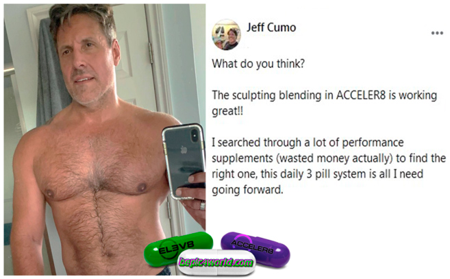 Testimonial of Jeff about the use of 3 pills of B-Epic Elev8 and Acceler8