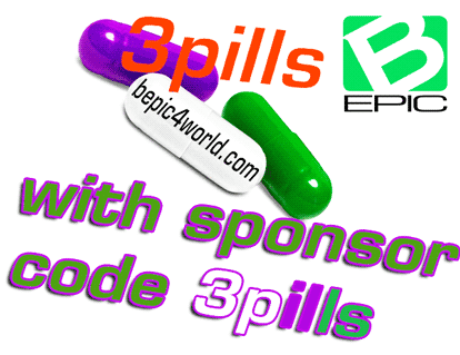 Sign up Buy Now BEpic with sponsor code 3pills