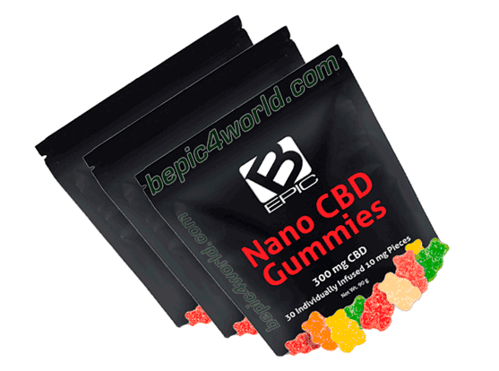 BEpic CBD products with gummies