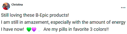 Christina writes about pills of BEpic