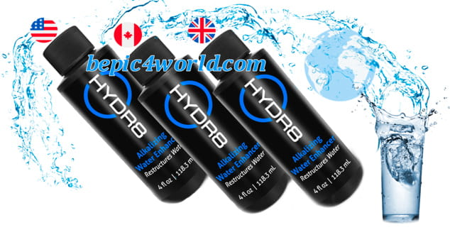 HYDR8 new alkaline water of B-Epic