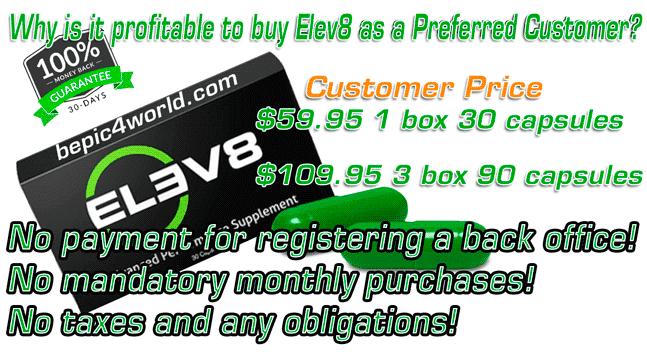 Preferred Customer Price of BEpic Buy ELEV8 B-Epic