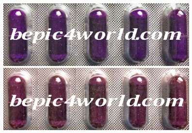 difference in the color of the pills Acceler8