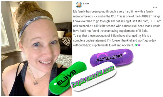 Feedback of Sarah about products of B-Epic