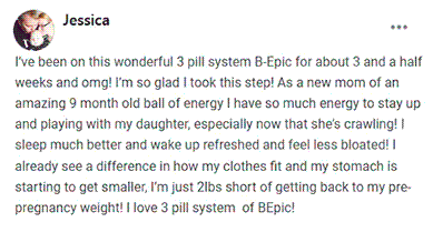 Jessica writes about using 3 pill system of B-Epic