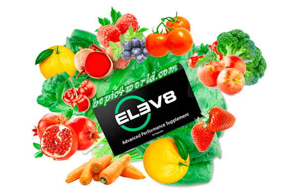 Vegetable and fruit extracts in capsules Elev8 of B-Epic