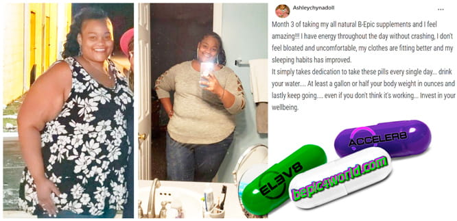 Ashleychynadoll writes about using B-Epic pills to get weight loss