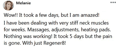 Melanie writes about using Regener8 by B-Epic