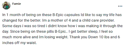 Famie writes about using BEpic capsules