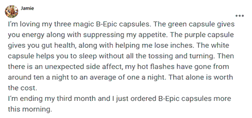 Jamie writes about BEpic capsules