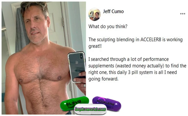 testimonial of Jeff about the using 3 pills of B-Epic Elev8 and Acceler8