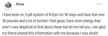 Alisa writes about using 3 pill system of B-Epic