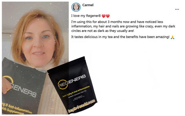 Carmel writes about using Regener8 by B-Epic