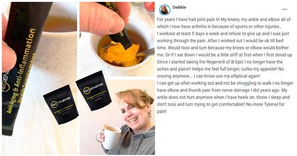 Debbie writes about using Regener8 by B-Epic