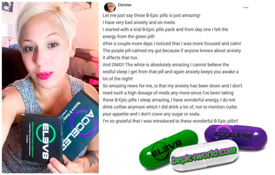Denise writes about B-Epic pills for relieving anxiety
