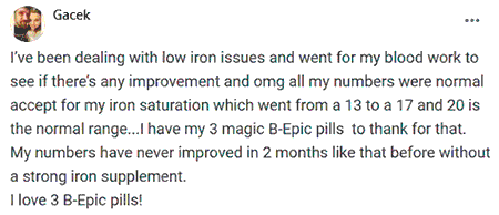 Gacek writes about 3 pills of B-Epic