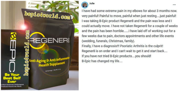 Julie writes about using Regener8 by B-Epic