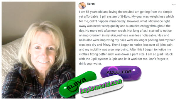 Karen writes about 3 pill system of B-Epic