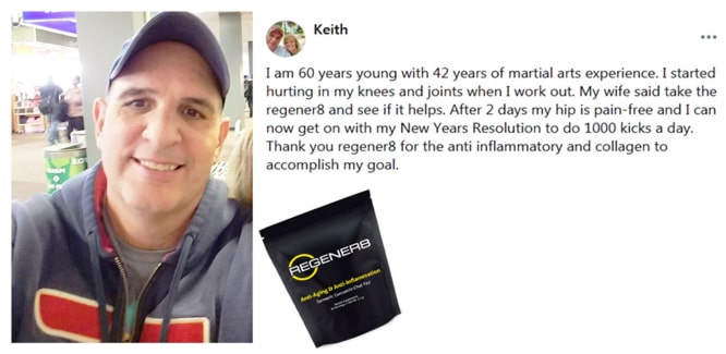 Keith writes about using Regener8 by B-Epic