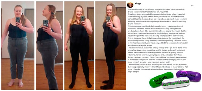 Kinga's review about using B-Epic capsules