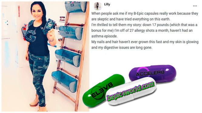 Lilly writes about B-Epic pills to get rid of allergy