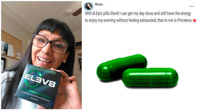 Rosa writes about Elev8 pills of B-Epic for energy