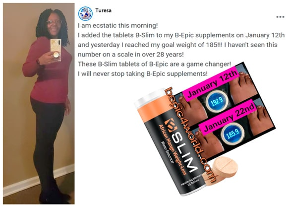 Turesa writes about B-Epic BSLIM tablets