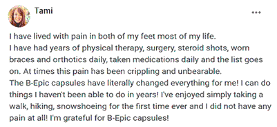 Tami writes about B-Epic capsules