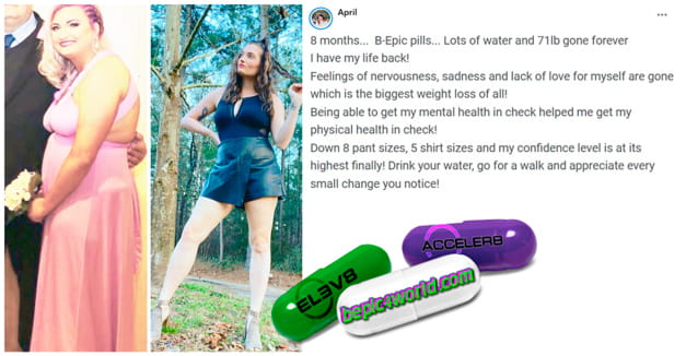 April writes about using B-Epic pills for weight loss