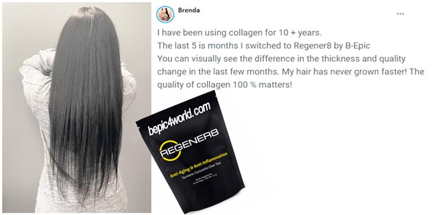 Brenda writes about the benefits of Regener8 for hair health