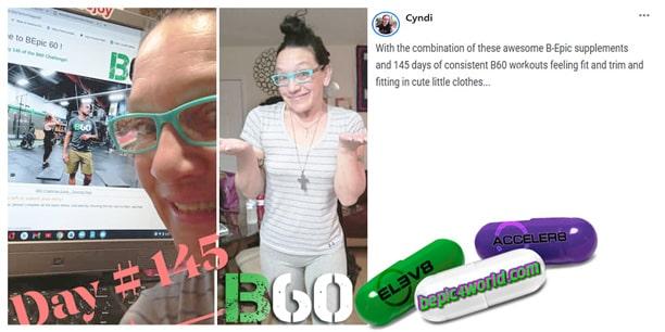 Cyndi writes about B-Epic program B60 challenge