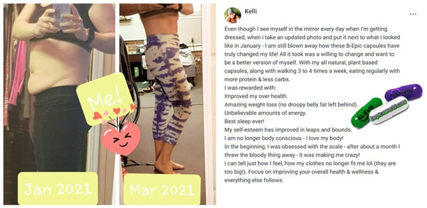 Kelli writes about the benefits of B-Epic capsules