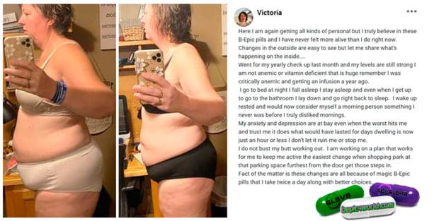 Victoria writes about B-Epic pills