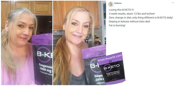 Deanna about B-KETO supplement by B-Epic