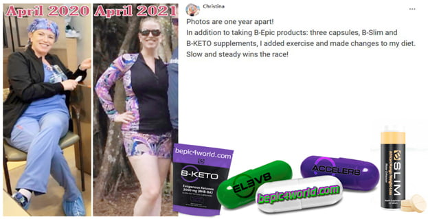 Feedback of Christina about B-Epic supplements