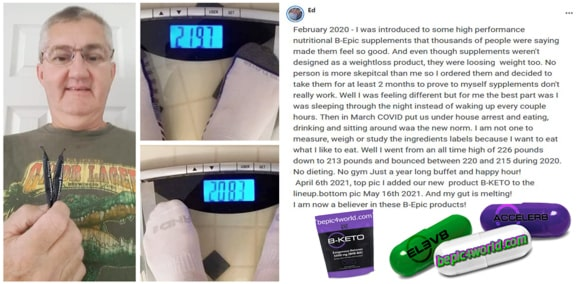 Feedback of Ed about B-Epic supplements