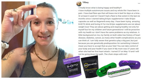 Feedback of Tiffany about B-Epic supplements